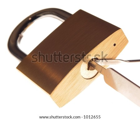 Picking a lock