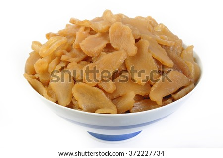 Pickle turnip in bowl - stock photo