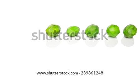 Pickled mango fruit over white background