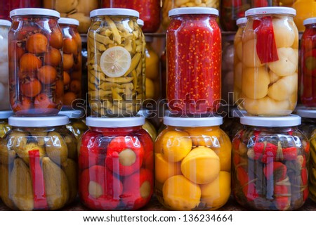 Pickled vegetables - stock photo