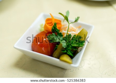pickled vegetables tomato cucumber