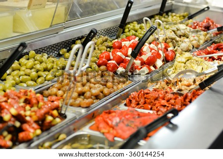 Pickles at St. lawrence market, Toronto - stock photo