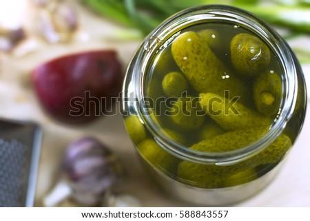 Pickles. Pickles in a jar.