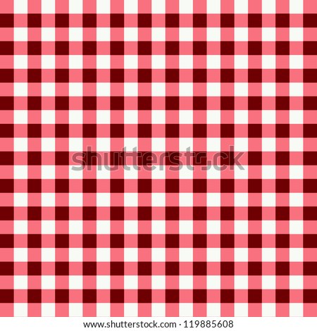 picnic cloth with red and pink - stock photo