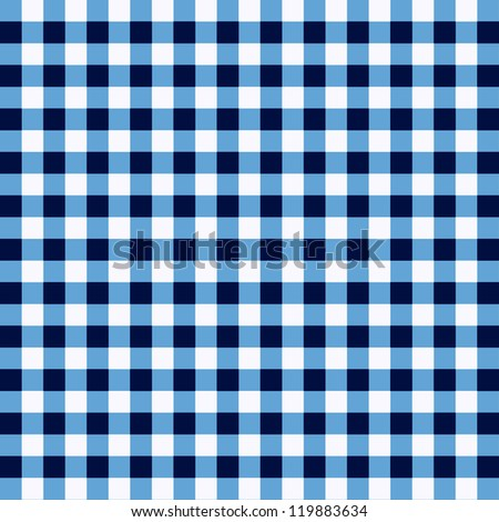 picnic cloth with white and blue - stock photo