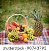 picnic setting - stock photo