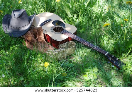 Picnic with guitar.