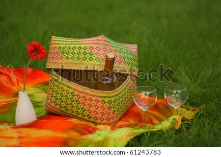 Picnic with white wine
