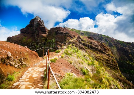 Pico do Arieiro is the third highest peak of Madeira, Portugal