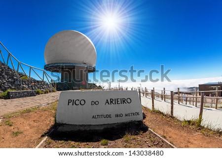 Pico do Arieiro, the 3rd highest mountain of Madeira, Portugal - stock photo
