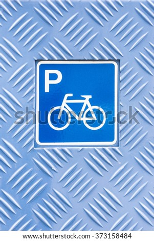 pictogram, bicycle parking - stock photo