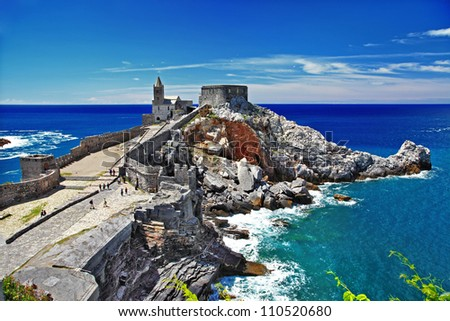 pictorial Italy - Portovenere, Cinque terre - stock photo