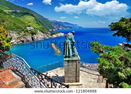 pictorial Italy series - Monterosso , Cinque terre - stock photo