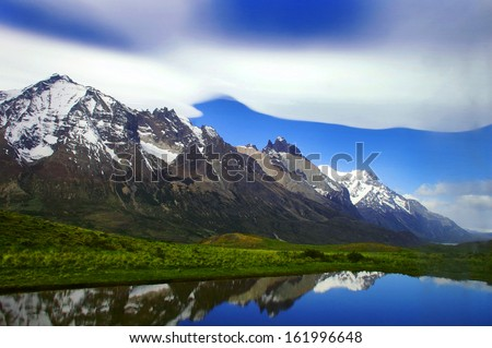Picture captured in Patagonia (Argentina)  - stock photo