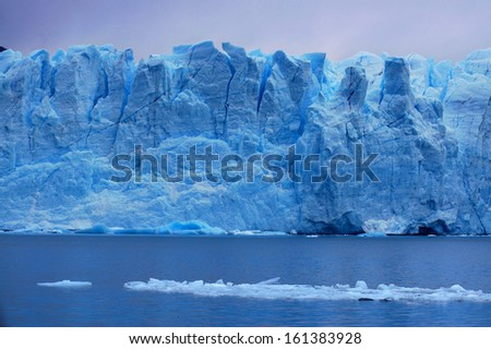 Picture captured in Perito Moreno Glacier in Patagonia (Argentina)  - stock photo