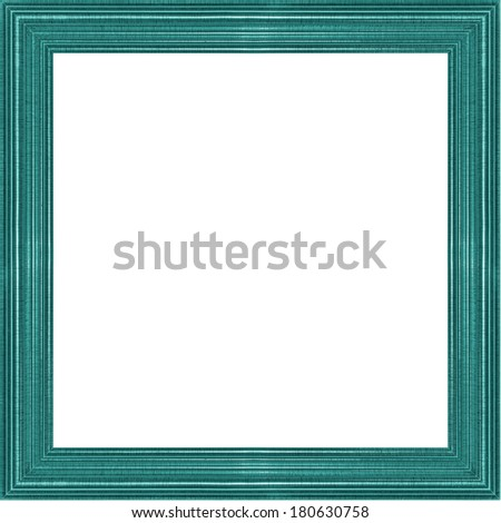 Picture frame color wood frame in white background. - stock photo
