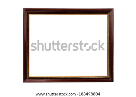 Picture frame, isolate on a white background.