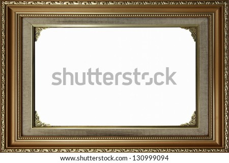 Picture frame isolated on white background - stock photo
