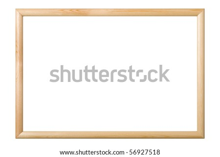 Picture frame isolated on white background, clipping path. - stock photo