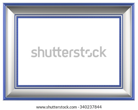 Picture frame isolated on white background. Computer generated 3D photo rendering. - stock photo