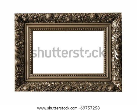 Picture frame isolated on white background See my portfolio for more - stock photo