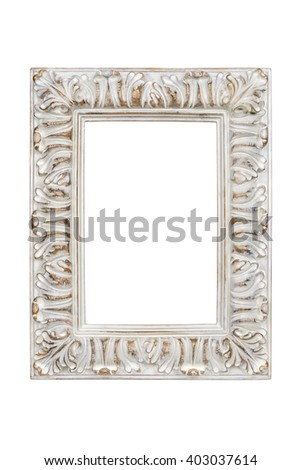 Picture frame isolated on white background with clipping path. - stock photo