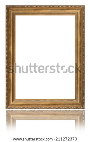 Picture frame isolated over white background with clipping path - stock photo
