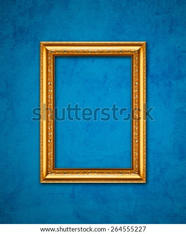 Picture frame on grunge Wall