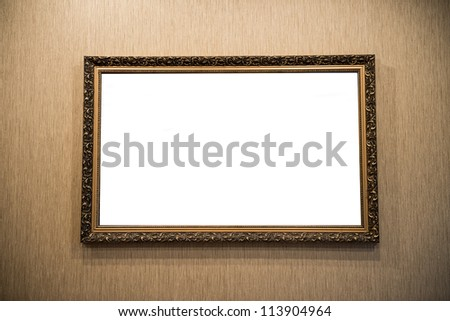 picture frame on the wall - stock photo
