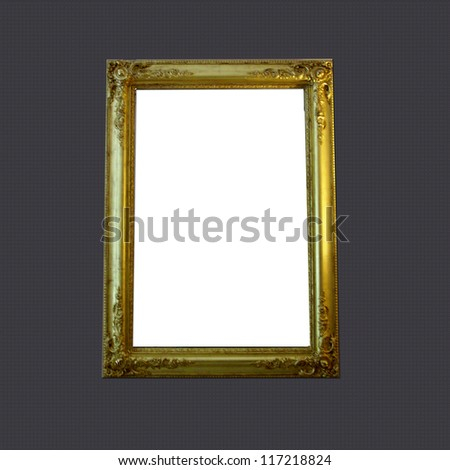 picture frame on wall to put your own pictures in. - stock photo