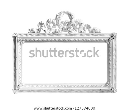 Picture frame on white background. - stock photo