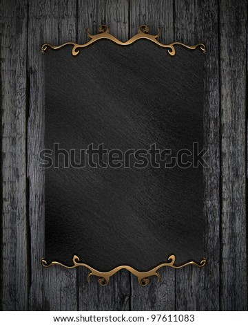 picture frame on wood wall