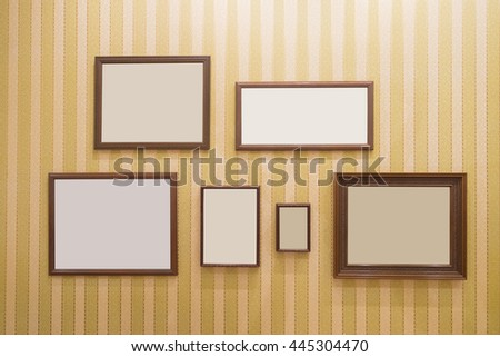 Picture frame , Photo art gallery on the wall. copy space great for your design