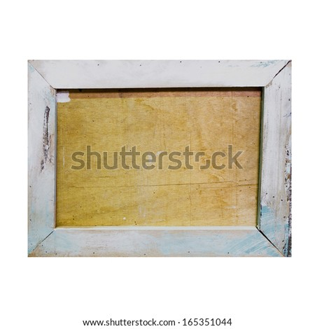 Picture Frame Wallpaper Background. Photo Frame on Grunge Wall - stock photo