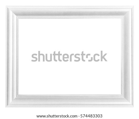 picture frame white wood frame isolated - White Wood Frame