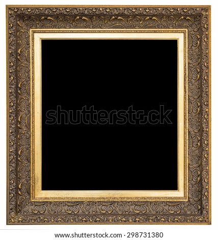 Picture frame with black background - stock photo