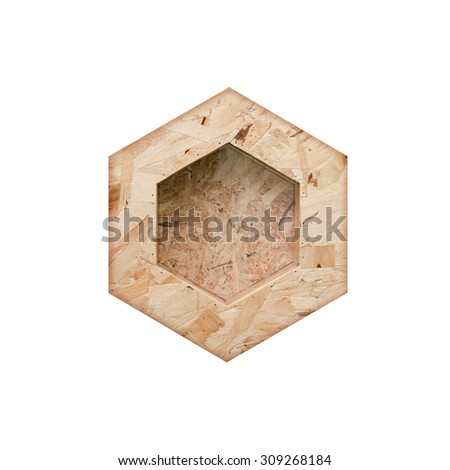 Picture frame wood compressed stack isolated on white background. - stock photo