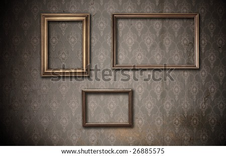 picture-frames on old dirty wall