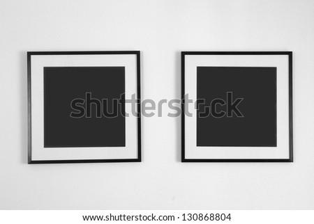 picture frames on the wall - stock photo