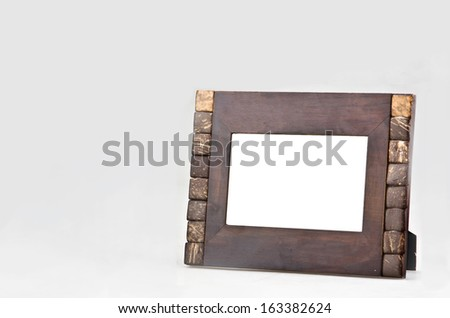Picture Frames: Wooden Frame - stock photo