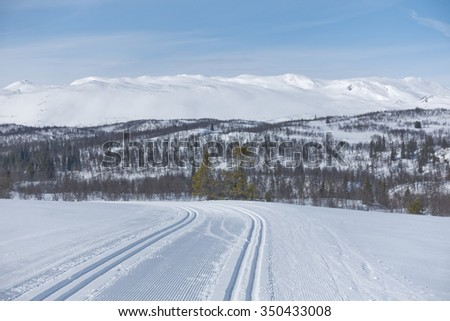 Picture from telemark, norway, winter landscape in rauland