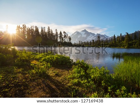 Picture Lake - stock photo