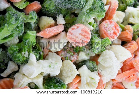 Picture of a bunch of mixed frozen vegetables - stock photo