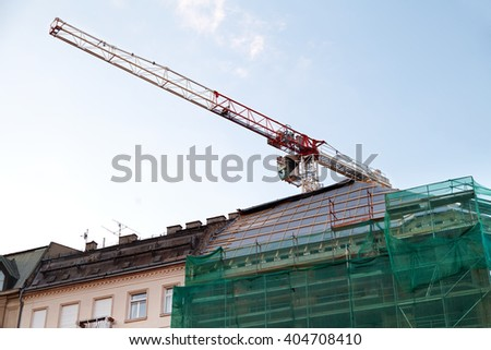 Picture of a city building under construction - stock photo