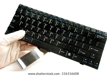 picture of a computer keyboard showing the individual keys  - stock photo