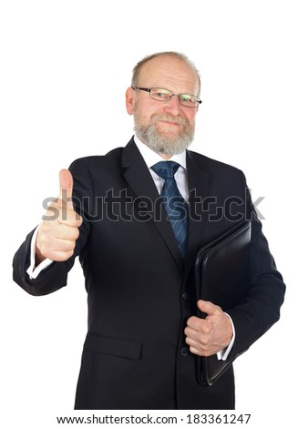 Picture of a confident businessman after a good deal