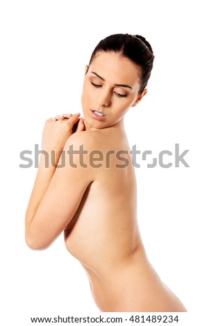 Picture of a healthy naked woman with perfect body.