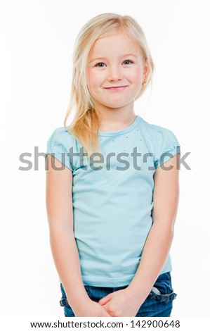 picture of a little and beautiful girls - stock photo