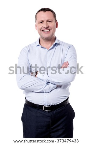 Picture of a middle aged man with crossed arms