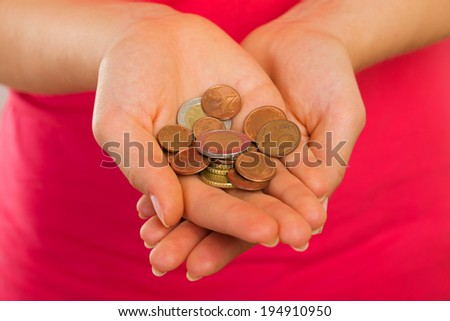 Picture of a needy woman hands - stock photo